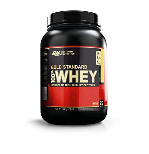 Optimum Nutrition Gold Standard 100% Whey Proteine in Polvere con Proteine Isolate ed Aminoacidi per la Massa Muscolare, Crema di Vaniglia Francese, 29 Porzioni, 0.9 Kg, il Packaging Potrebbe Variare
