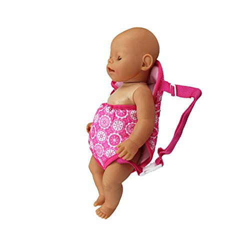 E-TING Baby Doll Carrier Backpack Doll Accessories Front and Back Carrier with Straps for 15 Inch to 18 Inch Dolls (style 2)