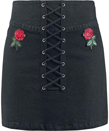 Jawbreaker Not A Romantic Rose Skirt Kurzer Rock schwarz M