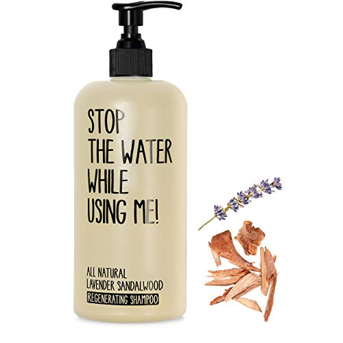 STOP THE WATER WHILE USING ME! All Natural Lavender Sandalwood Regenerating Shampoo (500 ml), shampoing vegan dans bouteille rechargeable