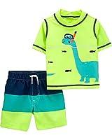 Carter's Baby Boys Rashguard Swim Set (Scuba Dino, 24m)