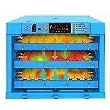 Jlxl Completamente automatico digitale 192 uova incubatrici con display digitale e controllo efficiente e intelligente della temperatura candela LED