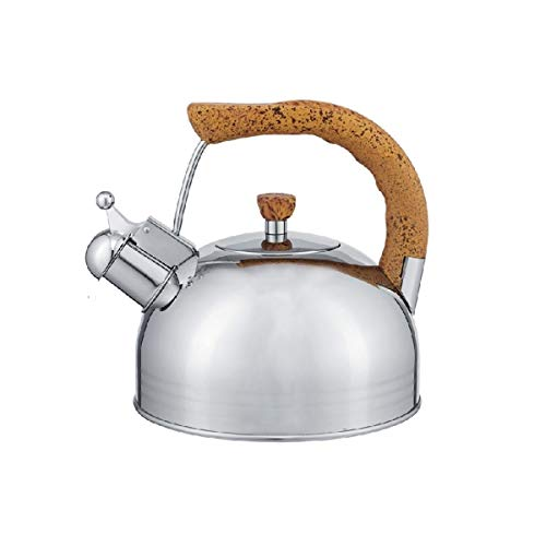 YMSH 304 Stainless Steel Sounding Kettle Kettle Kettle Gas Stove Induction Cooker (Color : Silver, Size : 2.5L)