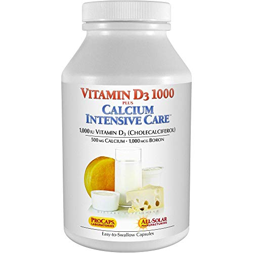 Andrew Lessman Vitamin D3 1000 Plus Calcium Intensive Care 250 Capsules  Essential for Calcium Absorption, Supports Bone Health, Healthy Muscle Function. Gentle, Easy-to-Absorb. No Additives