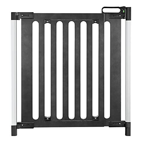 reer Grille de porte et d'escalier tendance à visser, design moderne, bois, maintien stable, largeur de passage 76-106 cm.