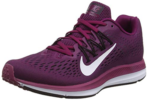 Nike Women's Air Zoom Winflo 5 Running Shoe, True Berry/White/Bordeaux/Burgundy Ash, Size 6