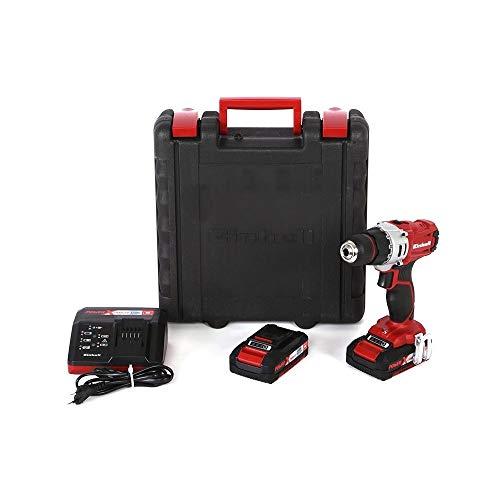 Einhell ® - Taladro atornillador 18 V Te-CD 18/2 LI Kit 2 baterías maletín - 10730