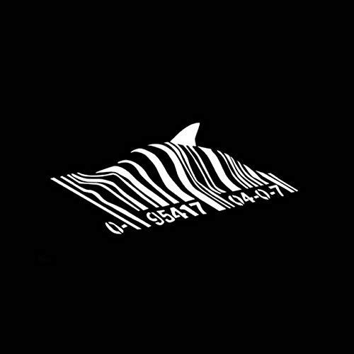 Black Box car Sticker 16.8cm * 7.5cm Banksy Barcode Shark Personality Vinyl-Auto-Fenster-Aufkleber-Abziehbilder-Schwarz-Silber Black Box car Sticker (Color Name : Silver)