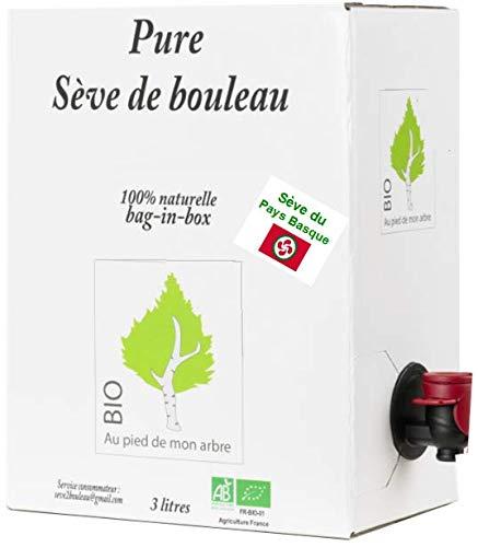 SEVE DE BOULEAU BIO de qualité Pays Basque Bag-in-box 3L (soit 6,65 € le 1/2 L)