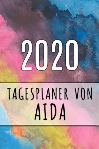 2020 Tagesplaner von Aida: Personalisierter Kalender für 2020 mit deinem Vornamen