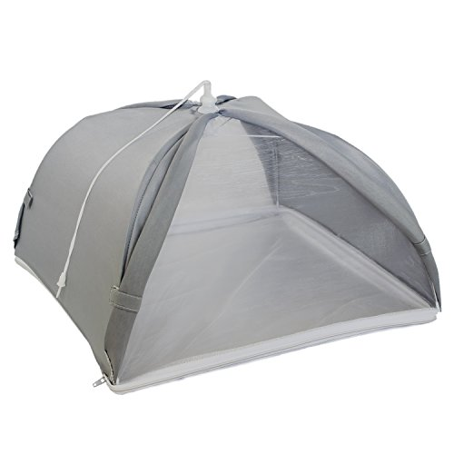 Kitchiker Large Pop Up Mesh Screen Food Cover Umbrella Tent with Zippered Bottom (Won't Blow Away!) - Protect Your Food...