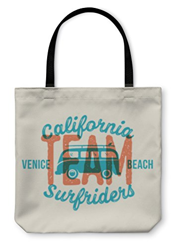 Gear New Shoulder Tote Hand Bag Retro Print Style Surfing Label Or Logo Template Surf Van With Surfboard And 13x13 6072571GN