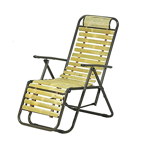 N&O Renovation House Lounger Deck Chairs Deck Chairs Portable Lounge Chairs with Armrests Outdoor Lounge Chairs Office Lunch Break Chairs Lounge Chair (Color : A Size : L156cm)