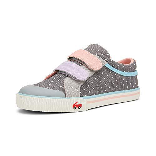 See Kai Run, Robyne Sneakers for Kids, Gray Denim, 9 M US Toddler