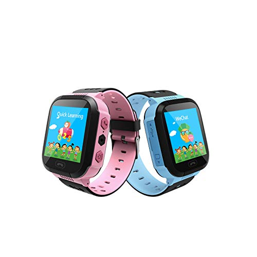 Smart Kids GPS Tracking Watch with 4G SI Tracking, sos, Calling Function for Kids Safety (Pink)