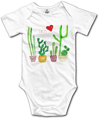 Cacti Cactus Love Printed Newborn Baby Bodysuit Long Sleeve Outfits Black