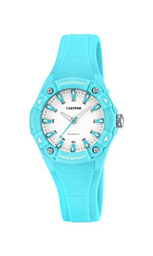 Calypso Reloj Unisex de Cuarzo con Correa de plástico en Color Blanco Esfera analógica Pantalla y Azul K5675/2