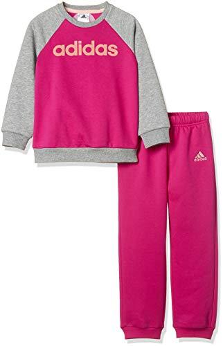 adidas - Fitness-Trainingsanzüge für Jungen in Real Magenta/Medium Grey Heather/Haze Coral, Größe 68