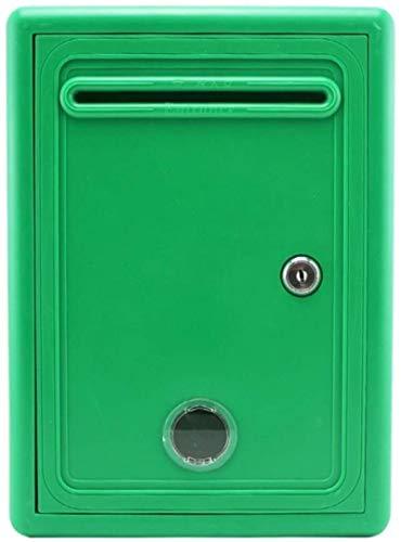 HZYDD Caja de Carta de Carta de buzón Colorear de plástico para Colorear con la decoración de Montaje en Pared de Bloqueo Impermeable (Color : Green)