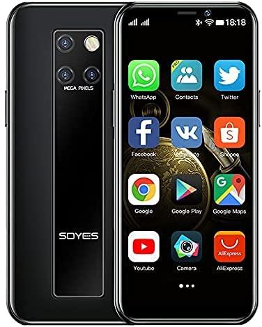 SOYES S10-H Mini Pocket Quad Core 4G Riconoscimento Viso Netcom Android Google 3.5 Pollici Smartphone, Nero , 3+32G,