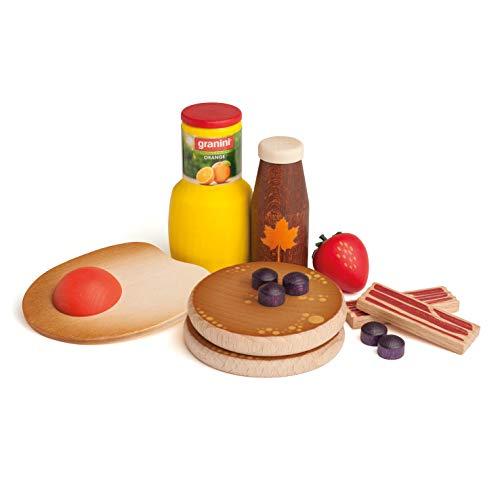 Erzi American Breakfast Sortierbox ideal zum zubereiten eines amerikanischen Frühstücks in deiner Spielküche - hochwertigen Spielzeuglebensmittel aus Holz