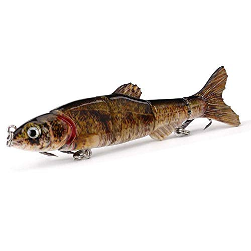 GIHJPIFFDWE Fishing Lures Fishing Lures for Freshwater Multi-Section Fish 4.5-inch / 6.5-inch Five-Section Fishing Lure Fishing Artificial Bait
