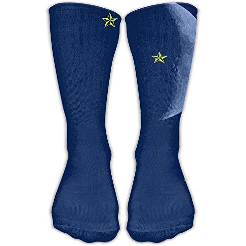 Ljkhas232 1270 Frauen Männer Classics Socken Lens Flare Stars Neongrün Athletic Strümpfe Lange Socke One Size 30 cm