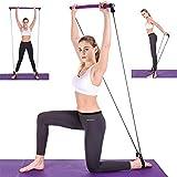 DOU DO Juego de barra de pilates portátil, barra de resistencia, barra de ejercicio, barra de gimnasio, barra de resistencia, palo de entrenamiento para entrenamiento corporal total,
