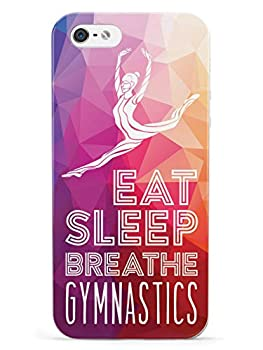 Inspired Cases - 3D Textured iPhone 5/5s/5SE Case - Rubber Bumper Cover - Protective Phone Case for Apple iPhone 5/5s/5SE - Eat Sleep Breathe Gymnastics