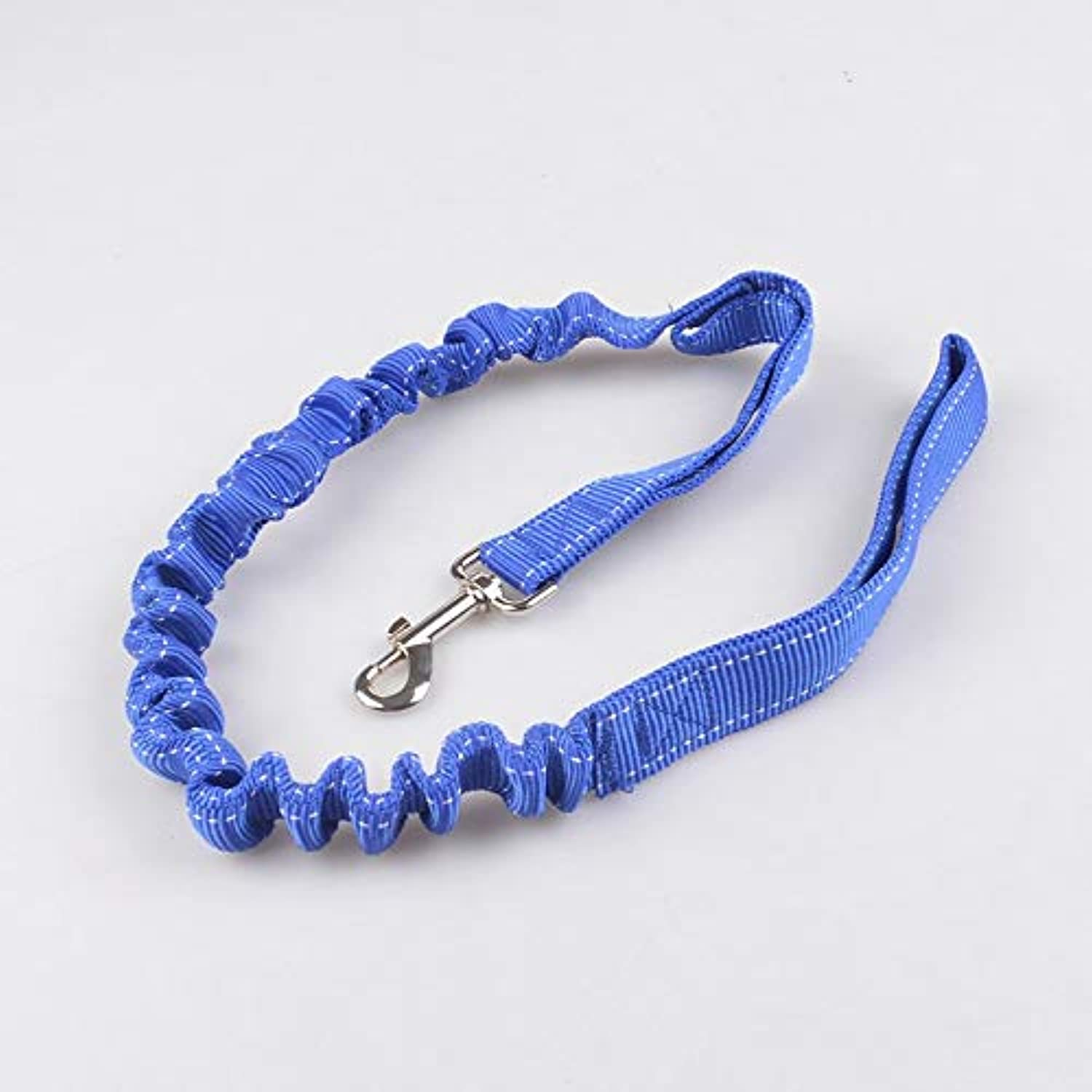 Pet Online Pet Supplies Cushioning Telescopic Traction Rope Large and Medium Dog Nylon Reflective Dog Chain,bluee