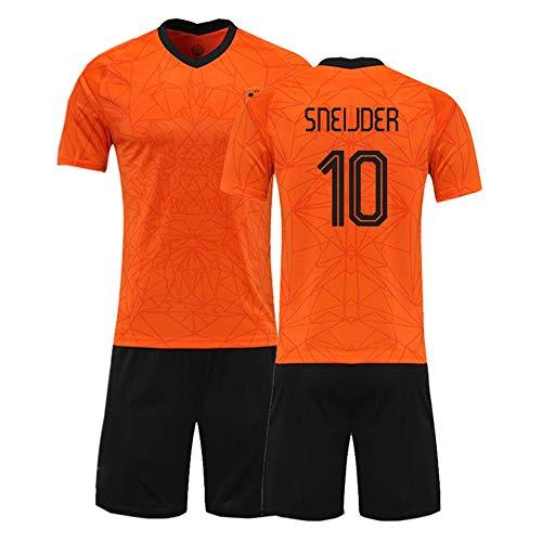 XH Wesley Sneijder # 10 Jersey Herren Fußbälle Trikot-Set alle Größen Kinder und Erwachsene (Color : Orange 2, Size : Adults-2XL)