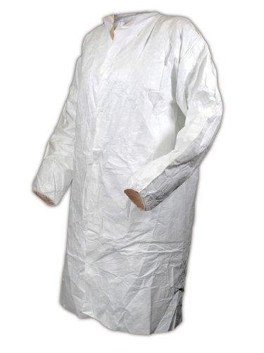 Magid CC111XXL EconoWear Tyvek Disposable Lab Coat, 2XL, White (Case of 30)