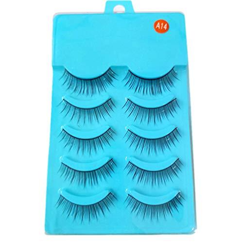 Beaupretty 5 Pairs Natural Fake Eye Lashes Professional Makeup Tips Long False Eye Lashes Extension Makeup Tools