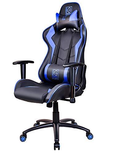 ゲーミングチェア ゲーム椅子 デスクチェア LC-POWER 165度 リクライニング pcチェア 多機能椅子 パソコンチェア ハイバック 腰痛対策 ランバーサポート ひじ掛け付き 高さ調整 PUレザー