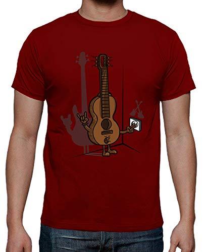 latostadora Camiseta Guitarra eléctrica 2 - Camiseta Hombre clásica, Rojo Talla L