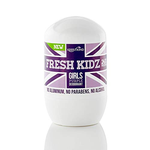 Keep it Kind Fresh Kidz Natural Roll On Deodorant 24 Hour Protection - Girls'Purple' 1.86 fl.oz.