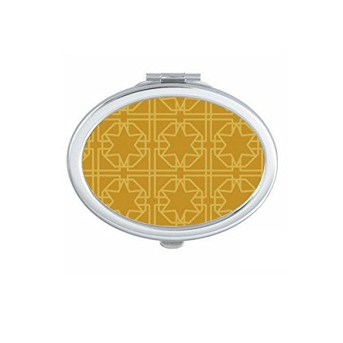 DIYthinker Royaume de Thaïlande Thai coutumes Traditionnelles d'or Tissage Motif décoratif Satin sanctuaire Art Illustration Ovale Maquillage Compact