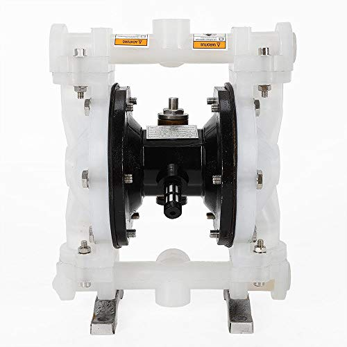 Double Diaphragm Pump, QBY-15PP Heavy Duty Air-Operated Diaphragm Pump with 1/2 inch Inlet and Outlet Diaphragm Pump USA Stock