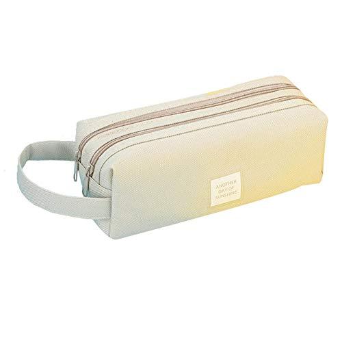 CyFe - Estuche cuadrado de lona para lápices (tamaño grande), color amarillo 210 * 85 * 90mm gris