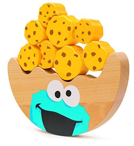 Small Foot 10973 Sesamstrasse Balancierwippe mit dem Krümelmonster aus Holz, 100% FSC-Zertifiziert Spielzeug, Mehrfarbig