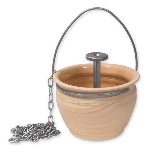 SudoreWell® Sauna Aufgusstopf mit Tropfventil Plus gratis Mentholkristalle + Saunaduft