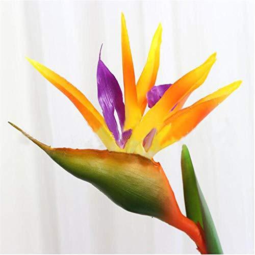 nieuwe 90 cm siliconen paradijsvogel kunstbloemen familie feest bloem woondecoratie woonkamer hotel decoraties, oranje, 70cm