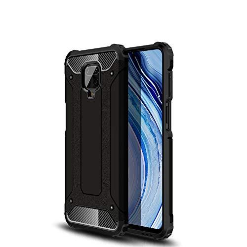 Boleyi Funda para Xiaomi Redmi Note 9S, TPU + PC Funda, 2in1 Armadura Combinación A Prueba de Choques Heavy Duty Escudo Cáscara Dura, Compatible para Xiaomi Redmi Note 9S -Negro
