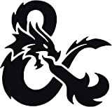 DUNGENS and Dragons Vinyl Decal Sticker for Window ~Car ~ Truck~ Boat~ Laptop~ iPhone~ Wall~ Motorcycle~ Gaming Console~ Size 4' x 3.82' Black