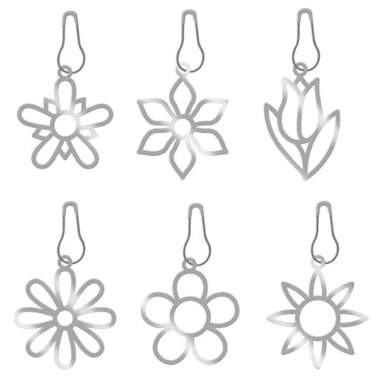 KAREN FOSTER Design Scrapbooking Bloomin Metal Charms, 12 x 12
