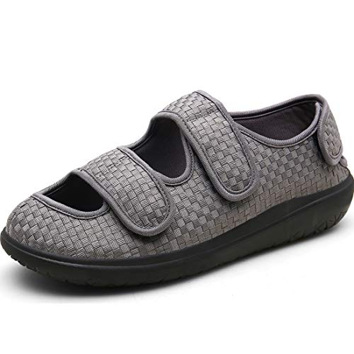 Hombre Sandalias Diabéticas Mujer Zapatillas Zapatos Diabeticos Antibacteriano Sanitized Ajustable Edema Zapatos hinchados Extra Ancha Zapatillas Adulto-Unisex