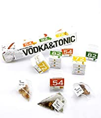 ✔ MAKE THE CLASSIC VODKA COCKTAIL - Make the perfect cocktail with different blend of botanicals, herbs and spices , packed in a special pyramid shaped vodka infusion bags. 6 Infusions by Té Tonic to create a delicious Vodka Tonic Cocktail. 100% natu...