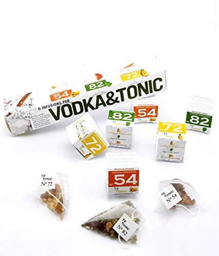 PRESENTANDO, NUEVO set de regalo Vodka Tonic - 6 infusiones paquete con 3 sabores diferentes. Caja...