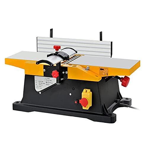 Juecle de madera de tipo de mesa de 6 pulgadas, 1800W Máquina de cepilladora eléctrica de pequeño obrero de carpintería / 12000rpm Multifunción de madera de madera