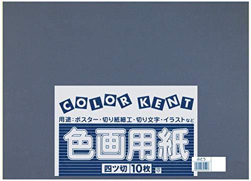 大王製紙 画用紙 再生 色画用紙 四ツ切サイズ 10枚入 ぶどう(ブドウ)